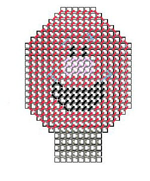 Funny Face Light Bulb Pattern