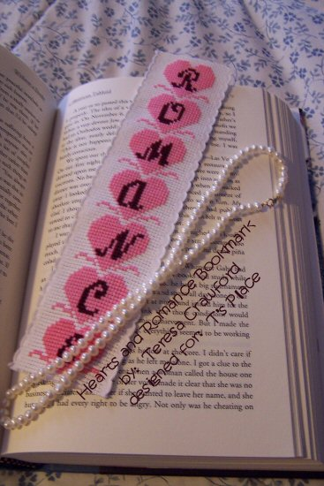 Hearts and Romance Bookmark