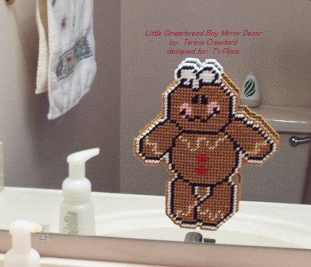 Little Gingerbread Boy Mirror Decor