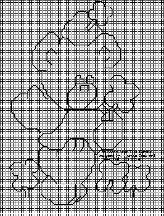 St Paddy Bear Tote Outline