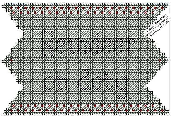 Reindeer On Duty Sign Pattern